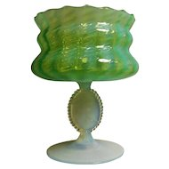 Veneation Murano  Glass Cameo Compote