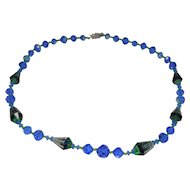 Vendome Art Glass Single Strand  Necklace