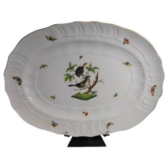 Herend Rothschild  Porcelain  Platter