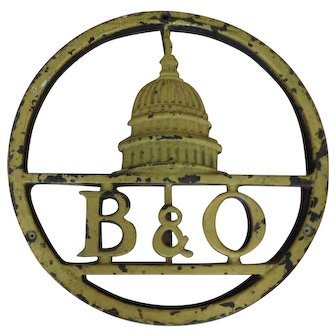 B&O Railroad Cast Iron Sign