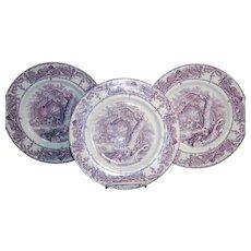 A.J. Wilkenson  Pastoral 3 Transferware Dinner Plates