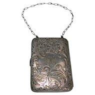 Ladies Vintage German Silver Coin Purse