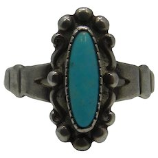 Sterling Turquoise Ring Makers Mark