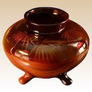 Owens Pottery Utopian Palm Fronds 3 Foot Large Vase/Pot