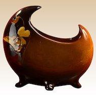 Owens Pottery 1896 - 1907 Utopian Iris Moon Vase #072