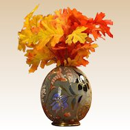 Cincinnati Art Pottery William Dell 1890's Hungarian Faience Egg Vase #10