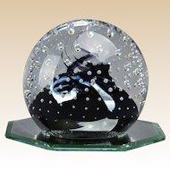 Caithness Scotland Cauldron Art Glass Paperweight