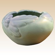 Van Briggle Pottery Ming Blue Acorn and Leaf Bowl