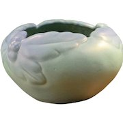 Van Briggle Pottery Ming Blue Acorn and Leaf Bowl
