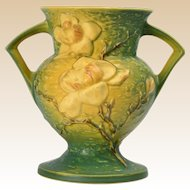 Roseville Pottery 1943 Trial Glaze Yellow Green Magnolia Vase # 181-8