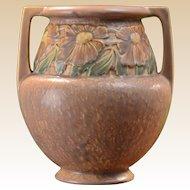 Roseville Pottery 1920's Trial Glaze Tawny Beige Dahlrose Vase #367