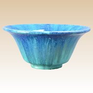 Muncie Pottery 1930's Blue drip over Green Bowl Shape 162-8