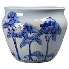 Weller Pottery Jardinere Jap Birdimal Planter, 1903