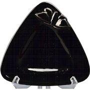 Rookwood Pottery Ashtray Black Moth Triangle Tray (Shape 2890),1935