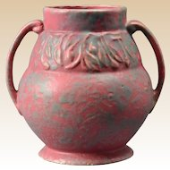 Burley Winter Pottery Gray over Purple Vellum Floral Design Vessel #74, 1925