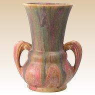 Roseville Pottery Vase, Cotton Candy Carnelian II Vase #332