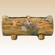 Weller Pottery Planter, Woodcraft Log Planter, 1920-33