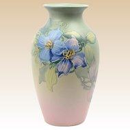 Weller Pottery Vase, 1920-30 Nasturtium Hudson Vase Hester Pillsbury
