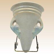 Roseville Pottery Vase, 1920's Tuscany Gray Wall Pocket #1254-7