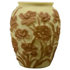 Phoenix Glass Vase, Custard Flower Vase