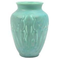 Rookwood Pottery Vase, 1938 Matt Green Lotus Moth Vase #6510