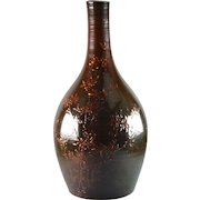 Rookwood Pottery Vase, 1884 Tiger Eye Dragon Fly Bottle Vase A Valentien