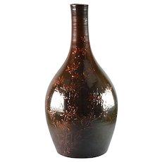 Rookwood Pottery Vase, 1884 Tiger Eye Dragon Fly Bottle Vase A Valentien