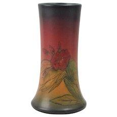 Rookwood Pottery Vase, 1925 Mat Red Glaze Red Flowers Tapered Vase #1358D Elizabeth Lincoln