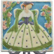 Rookwood Pottery Tile, 1925 Southern Bell Tea Tile #3070