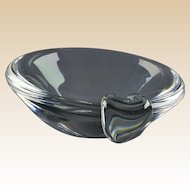 Steuben Crystal Bowl, Steuben 1950's Ash Receiver George Thompson
