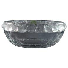 Lalique Crystal Bowl, pre-1978 Mesanges Sparrow Salad Bowl