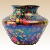 Fenton Glass Vase, 1925 Mosaic Squat Vase #3001-5 1/2