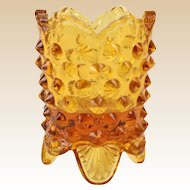 Fenton Glass, 1970-85 Amber Hobnail Toothpick