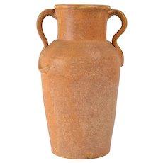 E.C. Brown Pottery Cincinnati Brown Arts & Crafts Handle Vase, ca 1900's