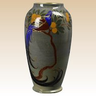 Royal Doulton Pottery Vase, 1926 Titanian Bird of Paradise Vase #7658