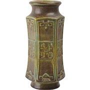 Rookwood Pottery Vase, 1910 Ombroso Geometric Vase #1805