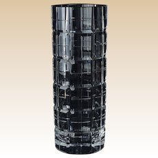 Wedgwood Crystal Vase, Vera Wang Cubic Cylinder Vase