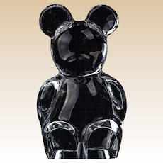 Orrefors Crystal Art Glass Teddy Bear Figure Paperweight