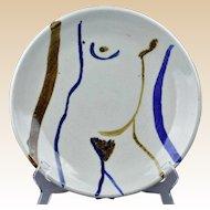 Vic Bassman Pottery Abstract Charger