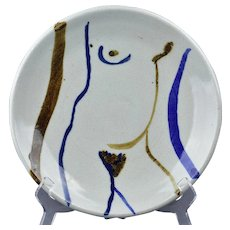 Vic Bassman Pottery Abstract Charger
