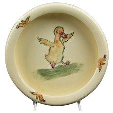 Weller Pottery 1920's Zona Dancing Duck Rolled Rim Bowl