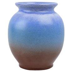 Weller Pottery 1936-48 Blue Brick Red Round Vase #9