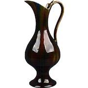 Cambridge Art Pottery 1895 - 1917 Oakwood Striated Glazed Ewer #216