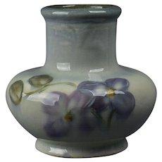 Weller Pottery 1906 Violets Etna Vase
