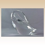 Steuben Crystal Swan Figure