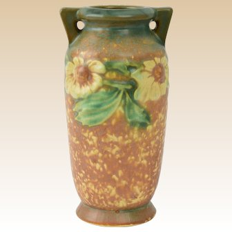 Roseville Pottery 1922 Dahlrose Cabinet Vase #363-6