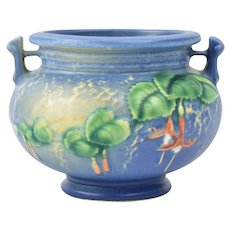 Roseville Pottery 1938 Blue Fuchsia Bowl #645-3