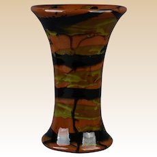 Peters and Reed 1920's Marbleized Spill Flared Vase