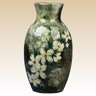 Wheatley Pottery JT 1880 Stylized Dogwood Vase Albert Valentien