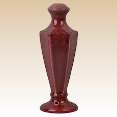 Muncie Pottery 1920's Semi-Gloss Maroon Lamp Base #244L-10
